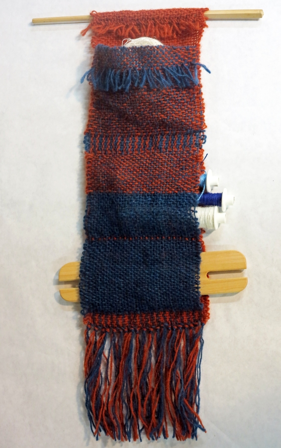 Double Weave on a Rigid Heddle Loom, or Not